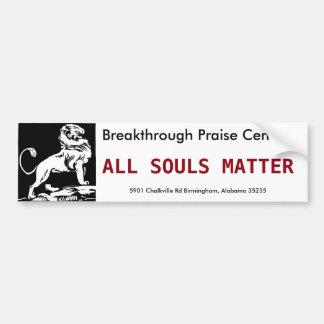 Toda la materia de las almas pegatina para auto