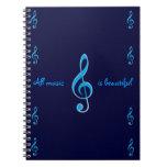 Toda la música es cuaderno hermoso