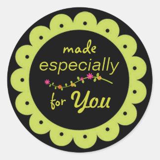 """Toda la ocasión """"hecha para usted"""" los pegatinas etiquetas redondas"""