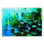 """Toda la ocasión Monet """"Nympheas """" Tarjeta Pequeña"""
