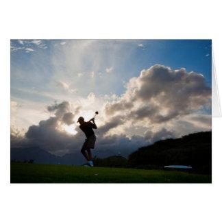 Toda la ocasión para el golf de los hombres felicitacion