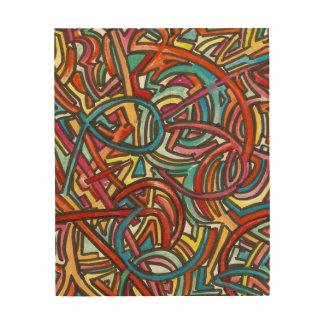 Toda la pintura y tinta Allí-De acrílico del Impresiones En Madera