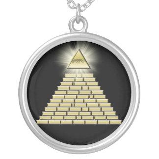 Toda la pirámide 2 del ojo que ve joyeria personalizada
