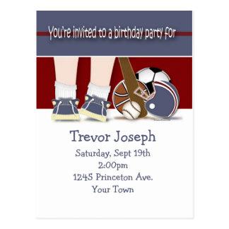 Toda la plantilla de la invitación del cumpleaños  postales