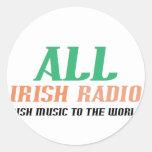 Toda la radio irlandesa pegatina redonda