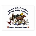 Toda la sociedad humana de las criaturas de dioses postales
