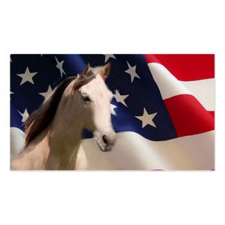 Toda la tarjeta de visita americana del caballo