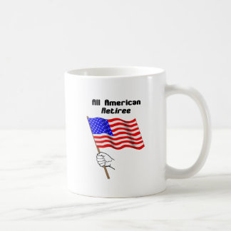 Toda la taza americana del jubilado