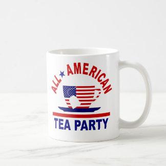 Toda la taza patriótica de la fiesta del té