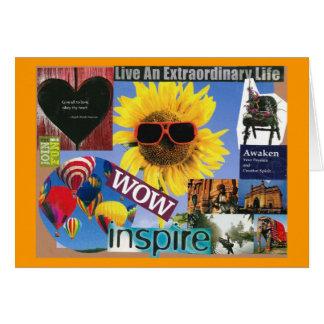 Toda la vida puede inspirar tarjeta de felicitación