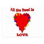 Toda lo que necesitamos es postal del amor