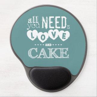 Toda lo que usted necesita es amor y torta alfombrillas de raton con gel