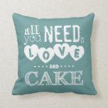 Toda lo que usted necesita es amor y torta almohada