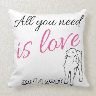 Toda lo que usted necesita es amor y una cabra cojín