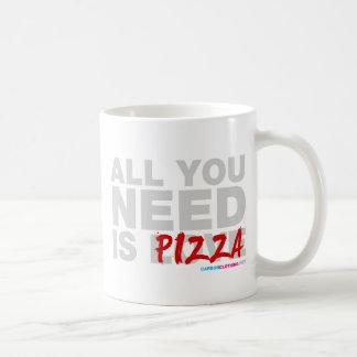 Toda lo que usted necesita es pizza taza básica blanca