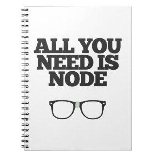 Toda lo que usted necesita es tipografía del libros de apuntes con espiral