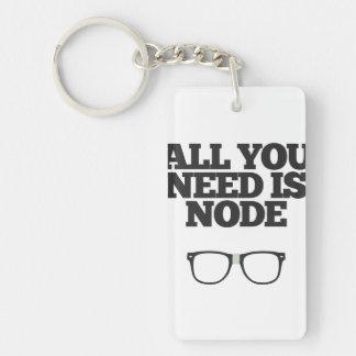 Toda lo que usted necesita es tipografía del llavero rectangular acrílico a doble cara