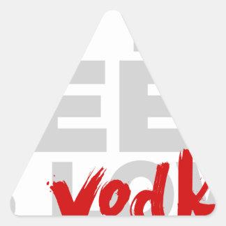Toda lo que usted necesita es vodka calcomanía de trianguladas