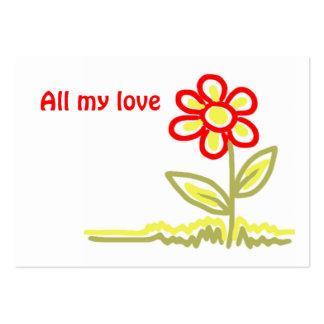 Toda mi etiqueta del regalo del amor tarjetas de negocios