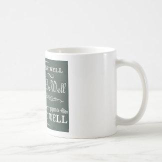 Toda será la taza de café bien (azul)