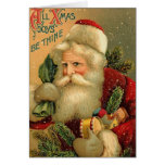 Todas las alegrías de Navidad sean Thine Tarjetón
