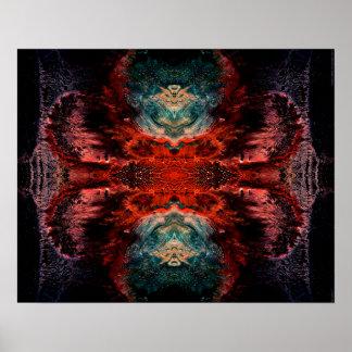 """""""Todas las almas 2"""" arte visionario abstracto psic Póster"""