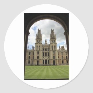 Todas las almas universidad, Oxford Pegatina Redonda