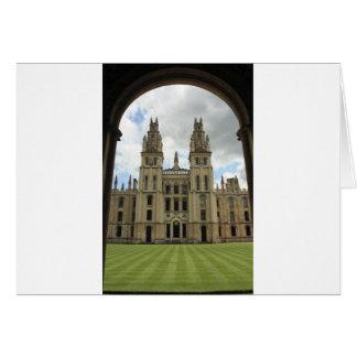 Todas las almas universidad, Oxford Tarjeta De Felicitación
