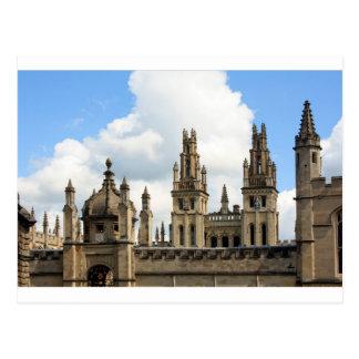 Todas las almas universidad, Oxford Tarjeta Postal
