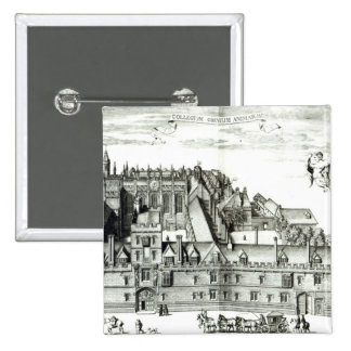 Todas las almas universidad, Universidad de Oxford Pin Cuadrada 5 Cm