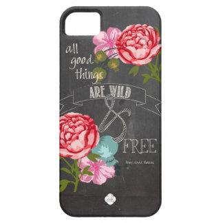 Todas las buenas cosas están salvajes y libres iPhone 5 fundas
