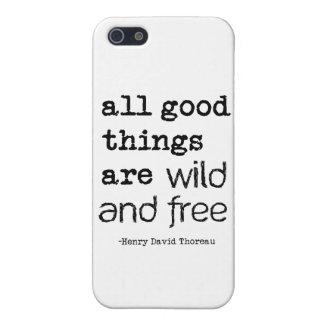 Todas las buenas cosas están salvajes y libres iPhone 5 carcasa