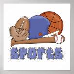 Todas las camisetas y regalos de los deportes poster