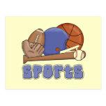 Todas las camisetas y regalos de los deportes tarjeta postal