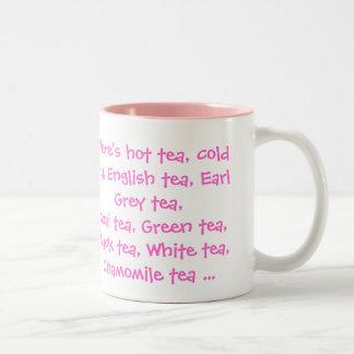 Todas las clases de té taza de dos tonos