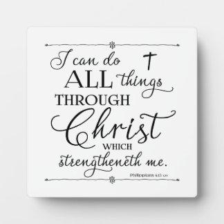 Todas las cosas a través de Cristo - 4:13 de los Placas