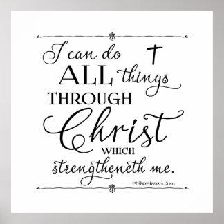 Todas las cosas a través de Cristo - 4:13 de los Póster