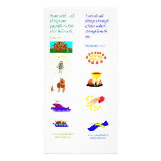 Todas las cosas de KJV son posibles - tarjeta de l Tarjetas Personales Con Fotos