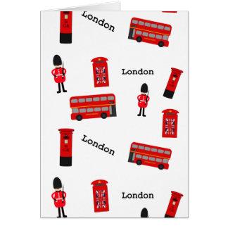 Todas las cosas Londres Tarjeta De Felicitación