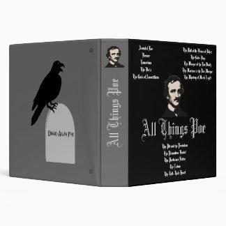 """Todas las cosas Poe Carpeta 1 1/2"""""""