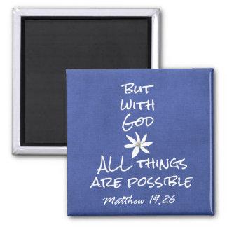 Todas las cosas son verso posible de la biblia imán cuadrado