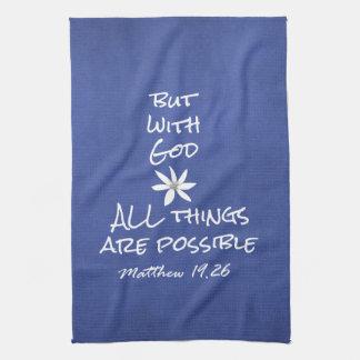 Todas las cosas son verso posible de la biblia toallas de cocina