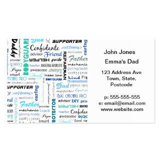Todas las cosas un papá son a mí tipografía tarjetas de visita