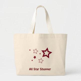 Todas las estrellas bolsa tela grande