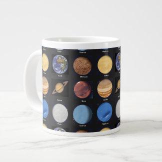 Todas las fotos de la ciencia de los planetas con  taza grande
