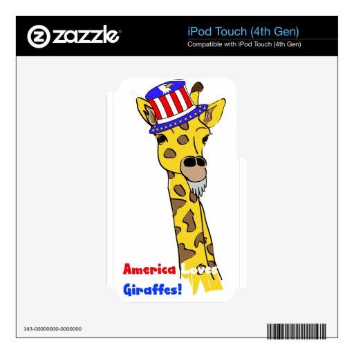 Todas las jirafas americanas iPod touch 4G skin