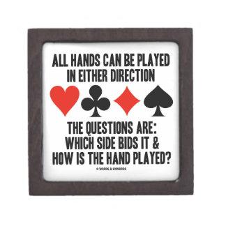Todas las manos (del puente) se pueden jugar caja de regalo de calidad