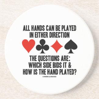 Todas las manos (del puente) se pueden jugar posavasos cerveza