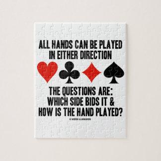 Todas las manos (del puente) se pueden jugar rompecabezas