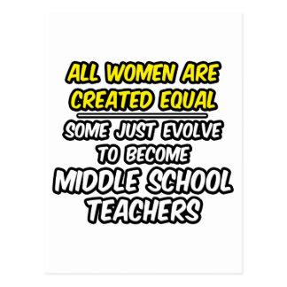 Todas las mujeres crearon a profesores de escuela postales